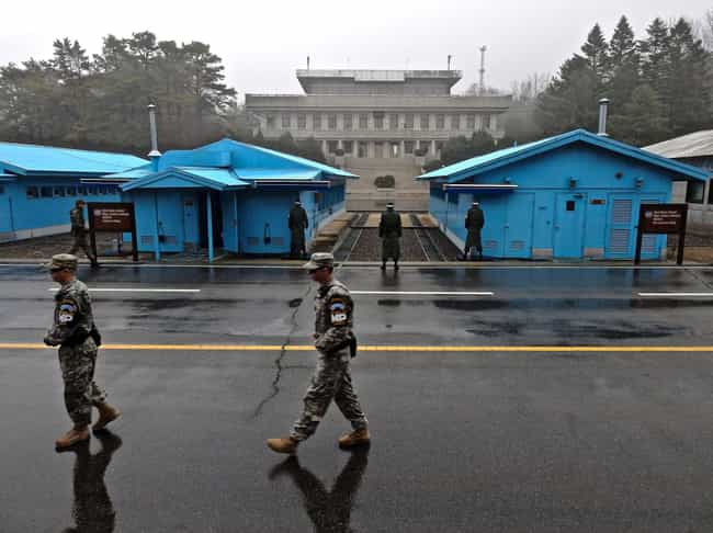 North Korea & South Korea, Joi... is listed (or ranked) 4 on the list 26 Striking Photos of Dangerous & Contested Borders Around the World