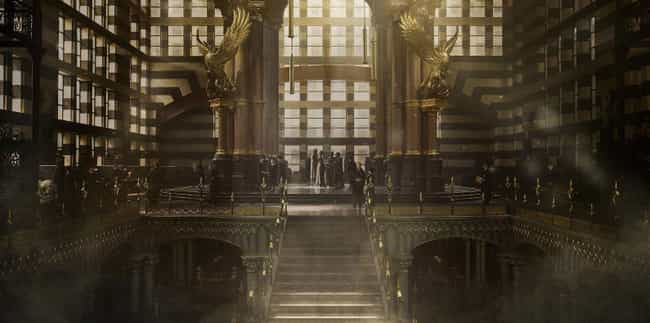 The Phoenix Statues - In the M... is listed (or ranked) 3 on the list All the References to Harry Potter in Fantastic Beasts You Definitely Missed