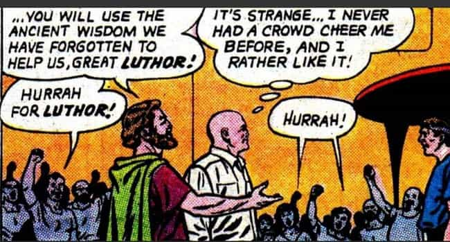 Lex Luthor Becomes A Jus... is listed (or ranked) 3 on the list 12 Sweet Gestures by Otherwise Terrifying Comic Book Villains