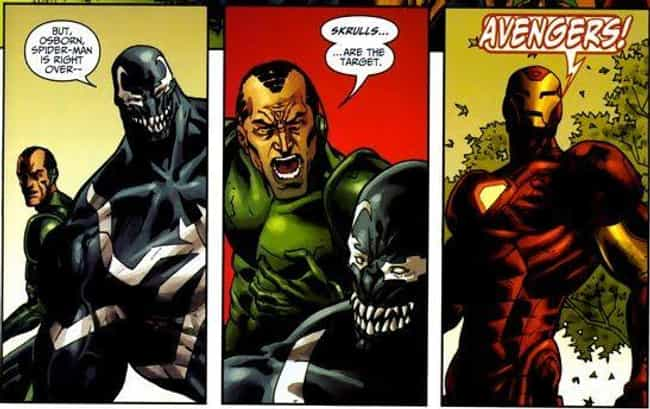 Norman Osborn Stops The ... is listed (or ranked) 4 on the list 12 Sweet Gestures by Otherwise Terrifying Comic Book Villains