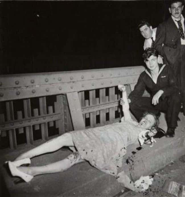 Bloodied Woman Reaching Out in is listed (or ranked) 11 on the list 12 Shocking and Gruesome Photos by Weegee, the Famous Crime Scene Photographer