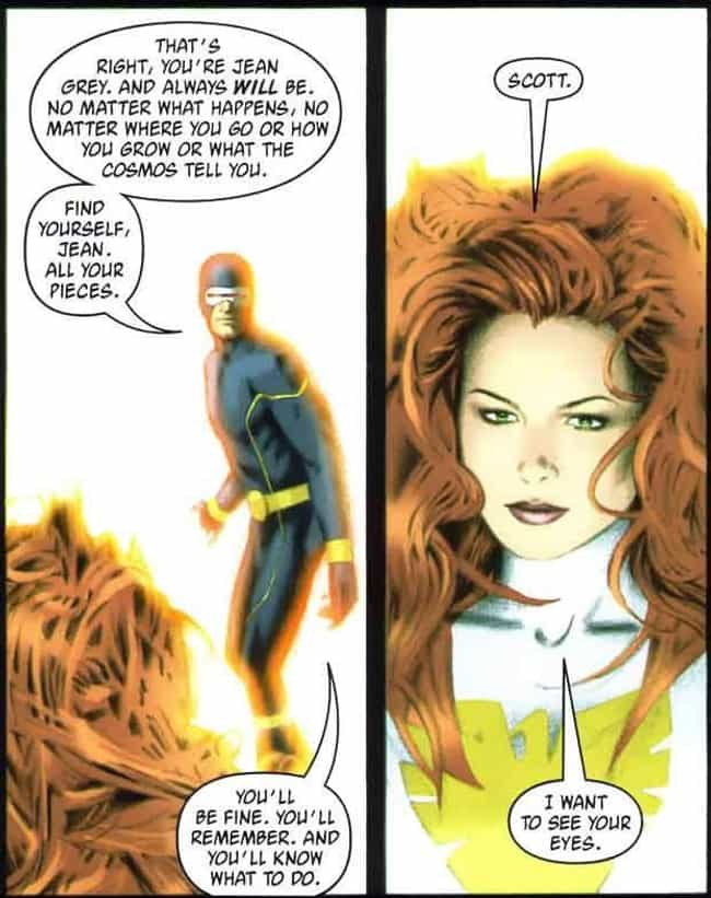 Jean Grey and Scott Summers - ... is listed (or ranked) 1 on the list 10 Marvel Storylines That Prove Comics Can Be Just as Deep as 'Real' Literature