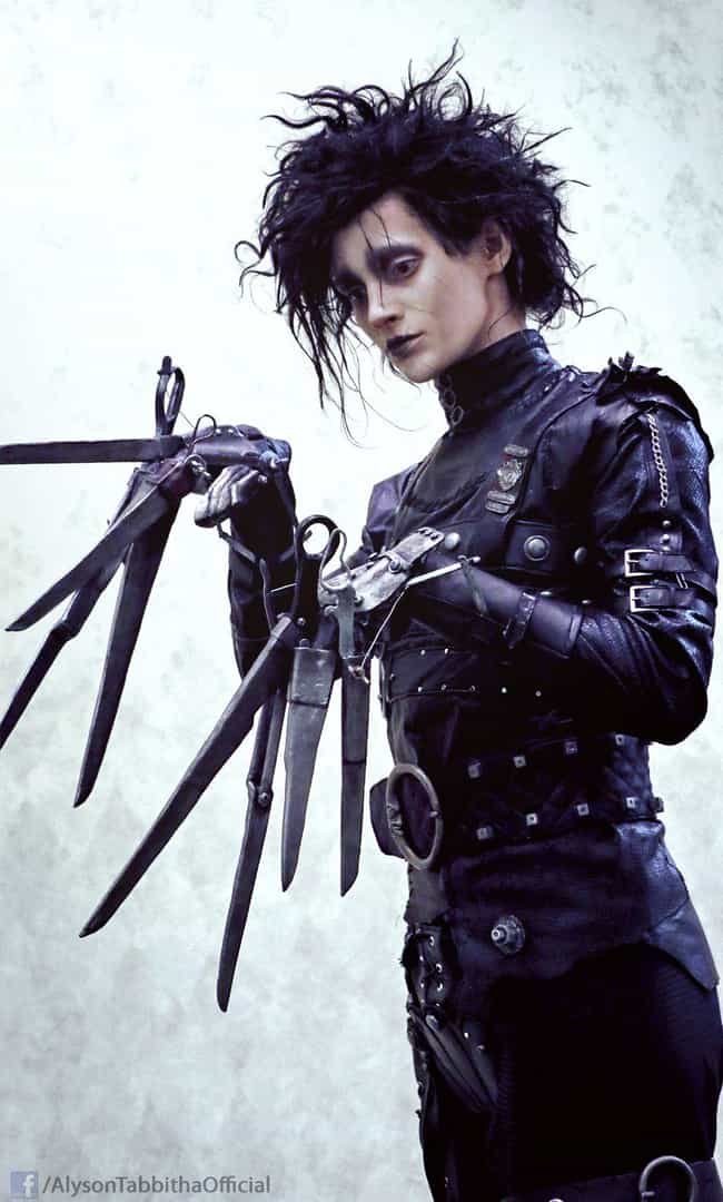 Edward Scissorhands is listed (or ranked) 1 on the list 22 Sexy Ladies Rocking Crossplay That Will Confuse You (In a Good Way)