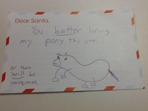 Random Hilarious Letters to Santa That May Worry You About Kids Today