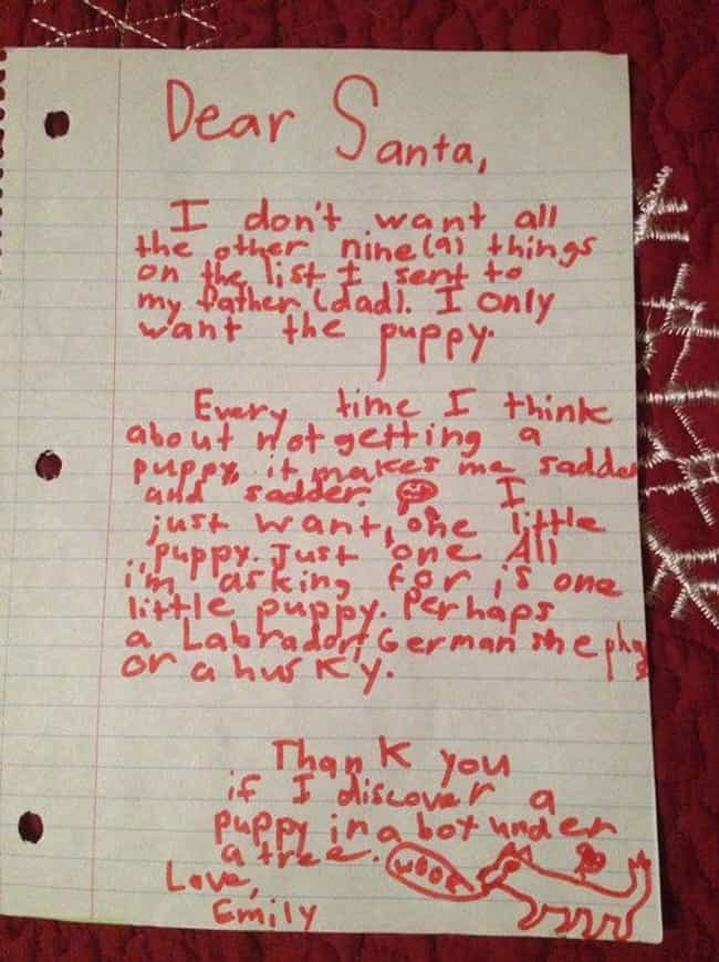 One Smart Puppy is listed (or ranked) 3 on the list 25+ Hilarious Letters to Santa That May Worry You About Kids Today