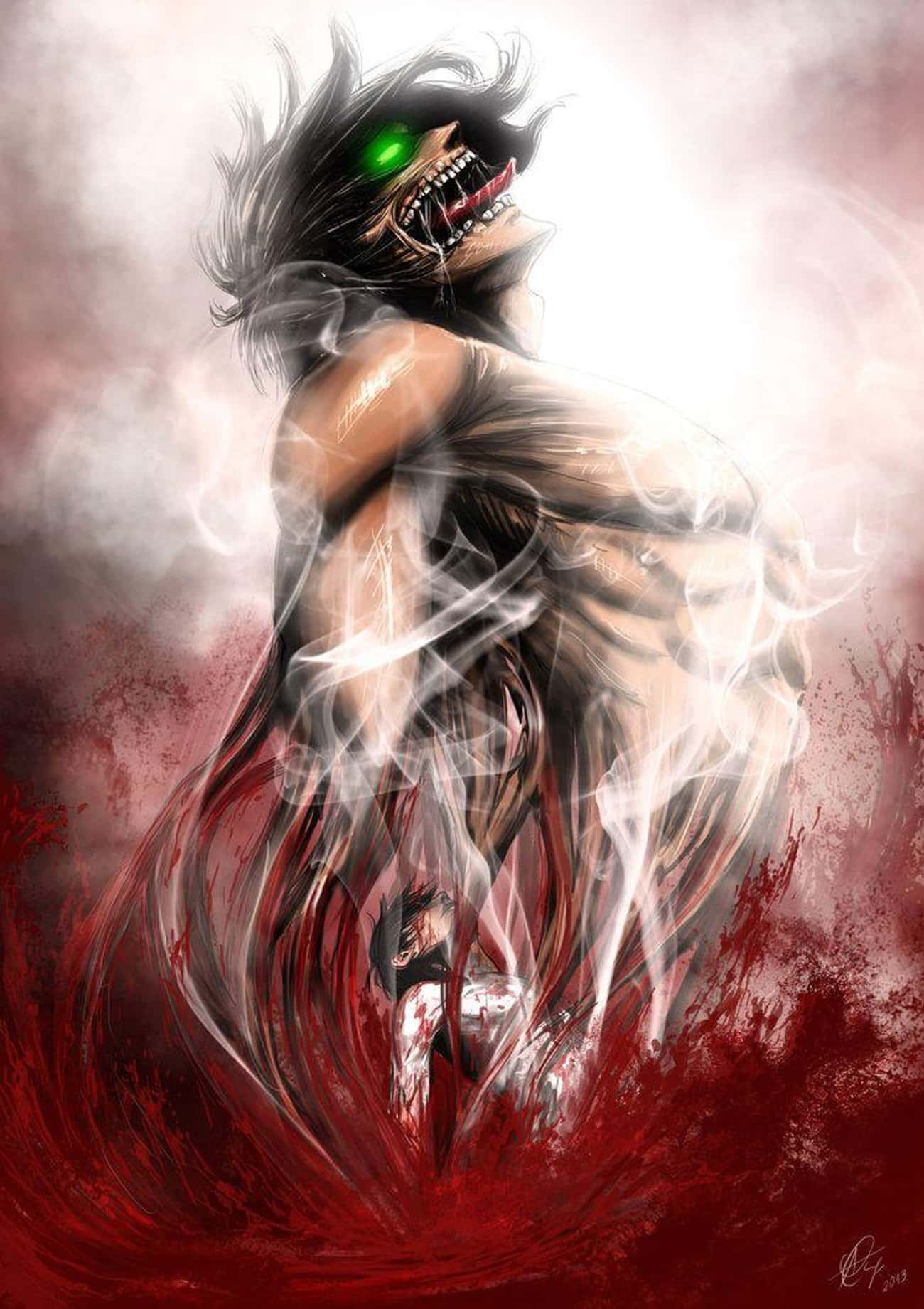 A Brutal Imagining of Eren&#39 is listed (or ranked) 1 on the list 22 Incredible Pieces of Attack on Titan Fan Art