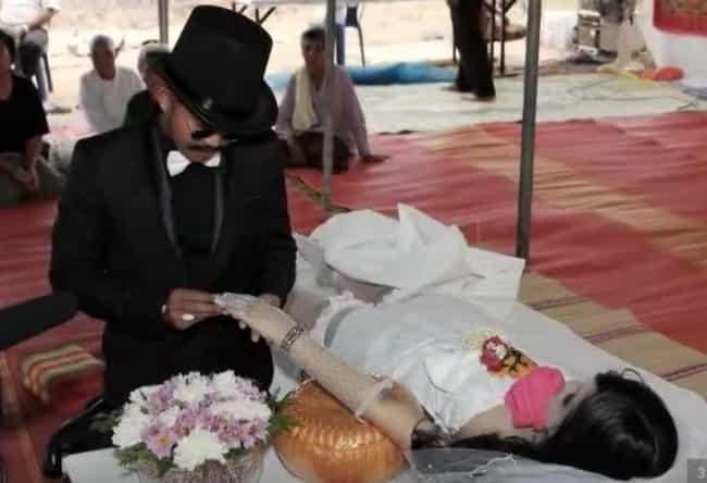 This Guy Married His Dead Girl... is listed (or ranked) 2 on the list 13 Times Dead Bodies Were Actually Set Up to Look Alive at Funerals