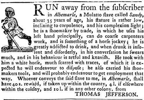 Random Shocking Escaped Slave Ads From the 19th-Century