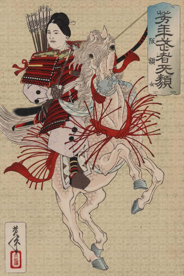 Tomoe Gozen, A Female Samurai, Once Took Home Seven Heads In One Battle