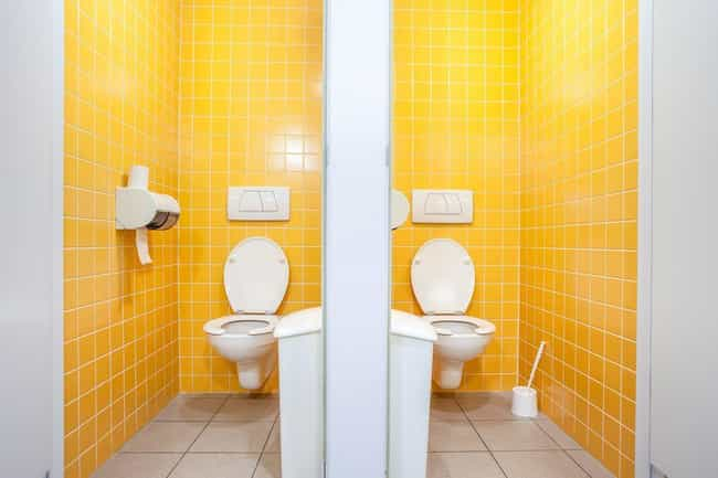 They're Required By Code is listed (or ranked) 1 on the list 9 Perfectly Good Reasons Why Public Toilet Seats Are U-Shaped