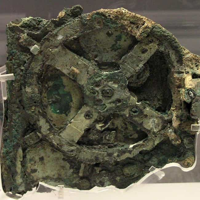 The Antikythera Mechanism Is a... is listed (or ranked) 4 on the list 10 Mysterious Ancient Inventions Science Still Can't Explain