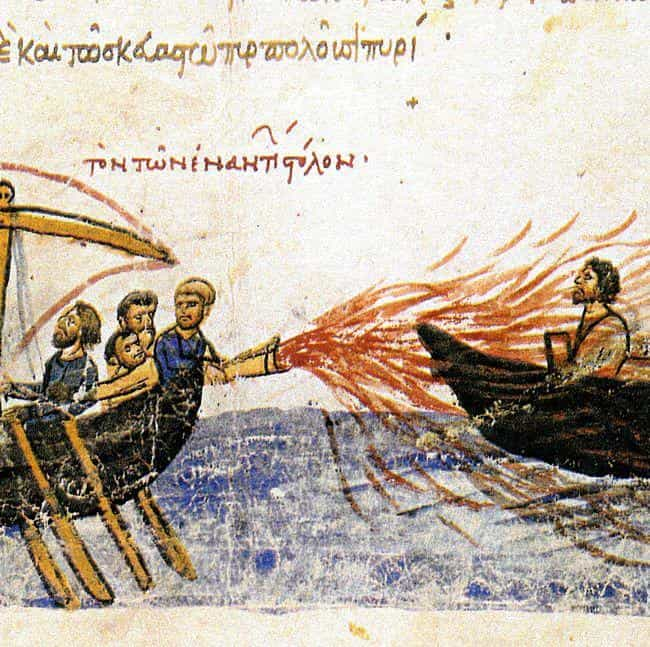 "Deadly ""Greek Fire"" Wa... is listed (or ranked) 1 on the list 10 Mysterious Ancient Inventions Science Still Can't Explain"