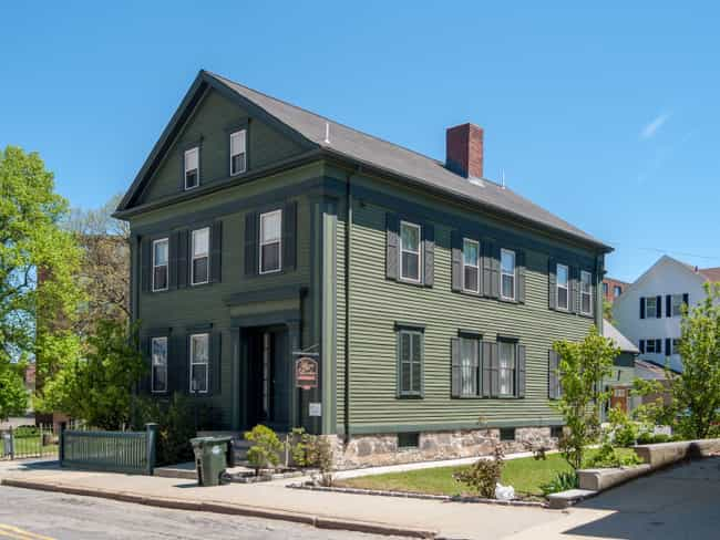 The Lizzie Borden Home W... is listed (or ranked) 3 on the list The Real Crimes And Tragedies That Led To Beliefs In Famous Hauntings