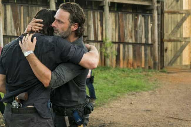 That Rick and Daryl Hug is listed (or ranked) 1 on the list 23 WTF Moments from the Walking Dead Midseason Finale
