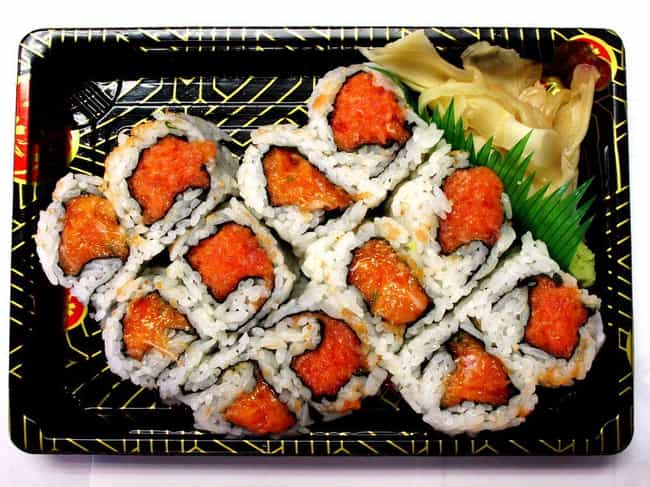 Spicy Salmon Roll is listed (or ranked) 4 on the list The Most Delicious Types of Sushi Rolls