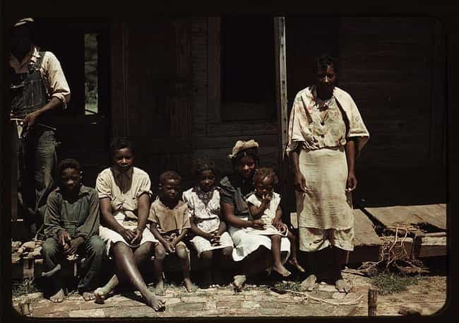 Sitting on the Porch At The Ba... is listed (or ranked) 1 on the list 25 Colorized Photos That Show What Life Was Really Like in the Great Depression