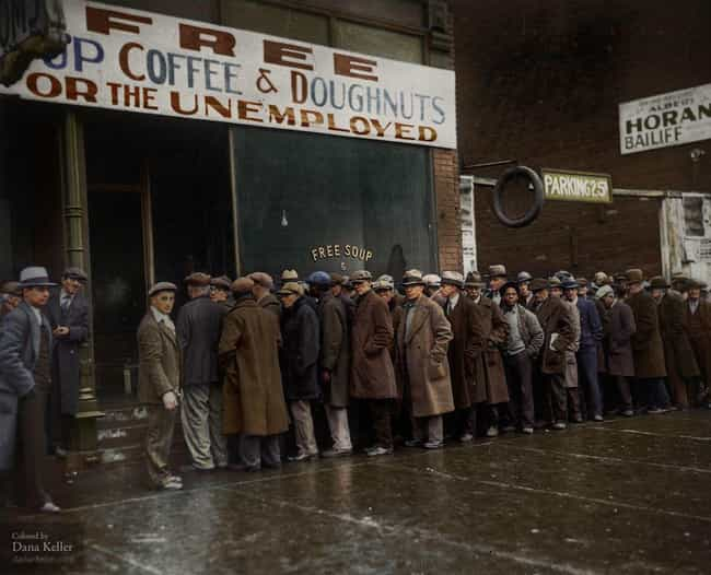 Standing Outside Al Capone's S... is listed (or ranked) 2 on the list 25 Colorized Photos That Show What Life Was Really Like in the Great Depression