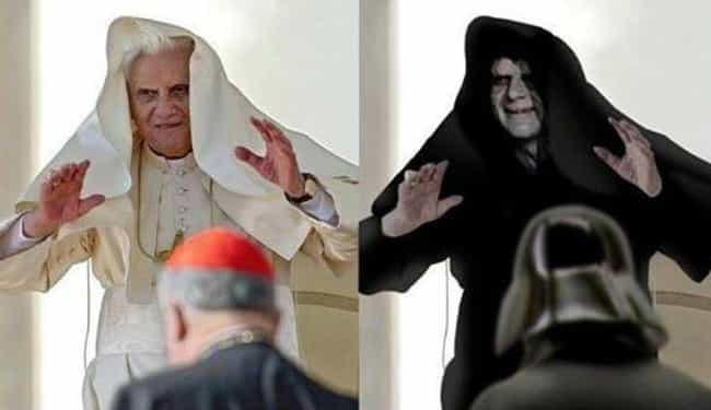 Star Wars: A New Pope is listed (or ranked) 3 on the list 28 Photos That Will Completely Change Your Perspective