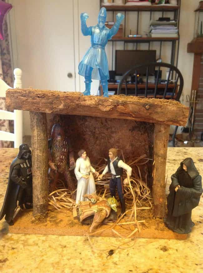 Going Solo This Christmas is listed (or ranked) 4 on the list Pop Culture Nativity Scenes That Are Way Cooler Than Normal Ones