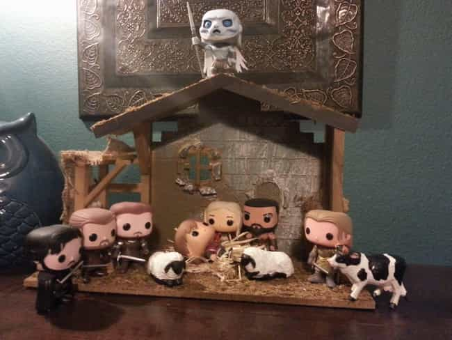 Christmas Is Coming is listed (or ranked) 1 on the list Pop Culture Nativity Scenes That Are Way Cooler Than Normal Ones