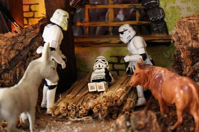 The Perfect Storm Manger Scene is listed (or ranked) 3 on the list Pop Culture Nativity Scenes That Are Way Cooler Than Normal Ones