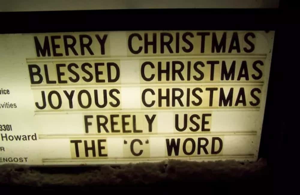 "I ""C"" What You Did The... is listed (or ranked) 1 on the list Silly Holiday Signs That'll Get You in the Spirit"