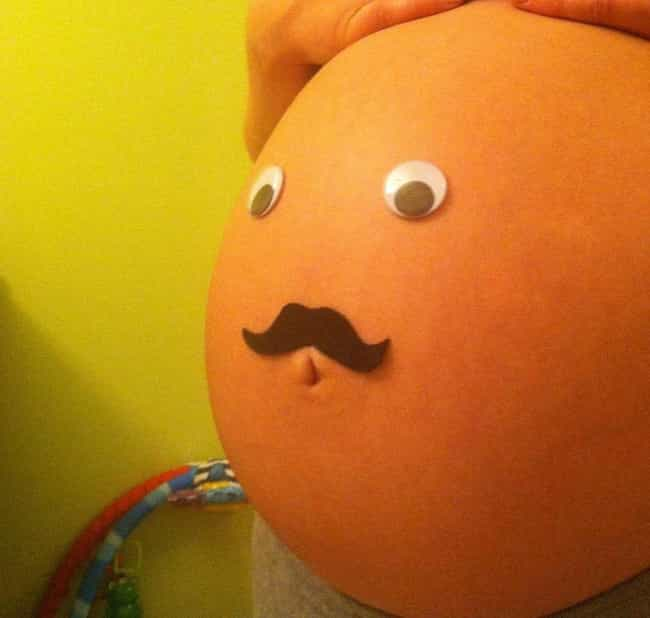 This Pregnant Belly Art Is Honestly Pretty Freakin' Scary