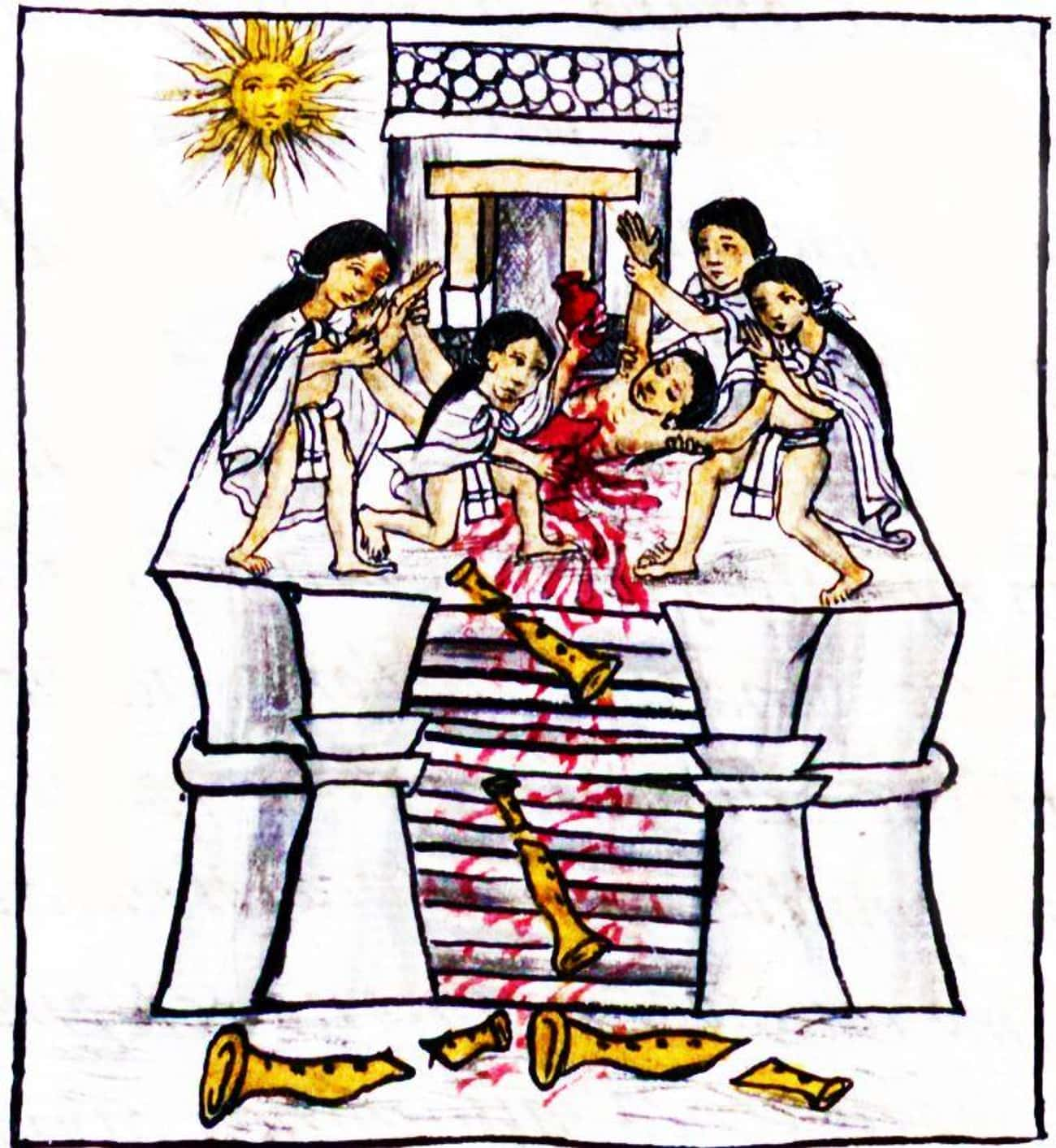 Huitzilopochtli Killed A Princ is listed (or ranked) 4 on the list 12 Insanely Violent Stories From Ancient Aztec Mythology