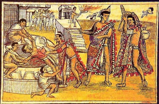 Huitzilopochtli Tore Out His N... is listed (or ranked) 3 on the list 12 Insanely Violent Stories From Ancient Aztec Mythology