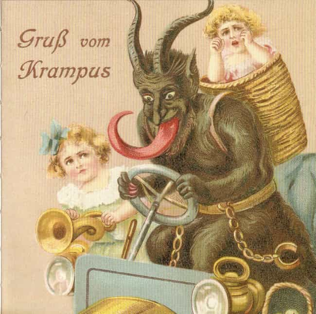 'Greetings from Krampus'... is listed (or ranked) 3 on the list 25 Bizarre and Disturbing Victorian Christmas Cards
