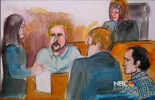 Guy Fieri In The Hot Seat Duri... is listed (or ranked) 2 on the list 16 Hilariously Bad Celebrity Courtroom Sketches That Somehow Got Made