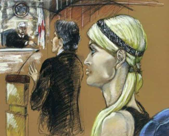 Paris Hilton Sporting Helmet H... is listed (or ranked) 4 on the list 16 Hilariously Bad Celebrity Courtroom Sketches That Somehow Got Made