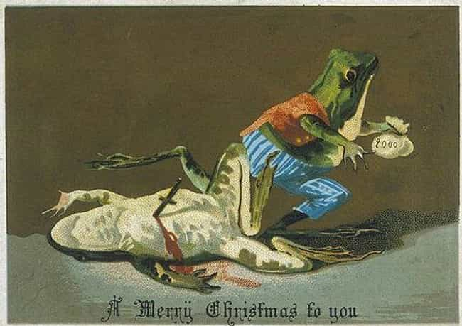 'A Merry Christmas to Yo... is listed (or ranked) 1 on the list 25 Bizarre and Disturbing Victorian Christmas Cards