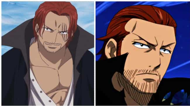 Shanks from One Piece and Gild... is listed (or ranked) 2 on the list 16 Anime Characters Who Could Be Long Lost Twins