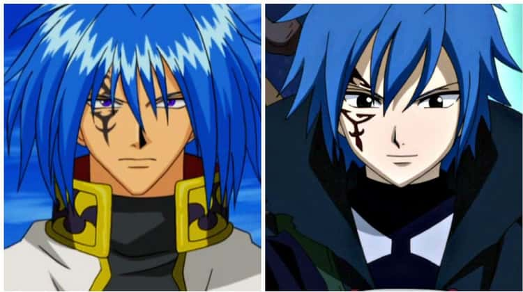 Sieg Hart from 'Rave Master' and Jellal Fernandes from 'Fairy Tail'