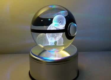 Crystal Pokeball With Rotating is listed (or ranked) 1 on the list 28 Inexpensive Gifts Every Pokemon Master Will Love