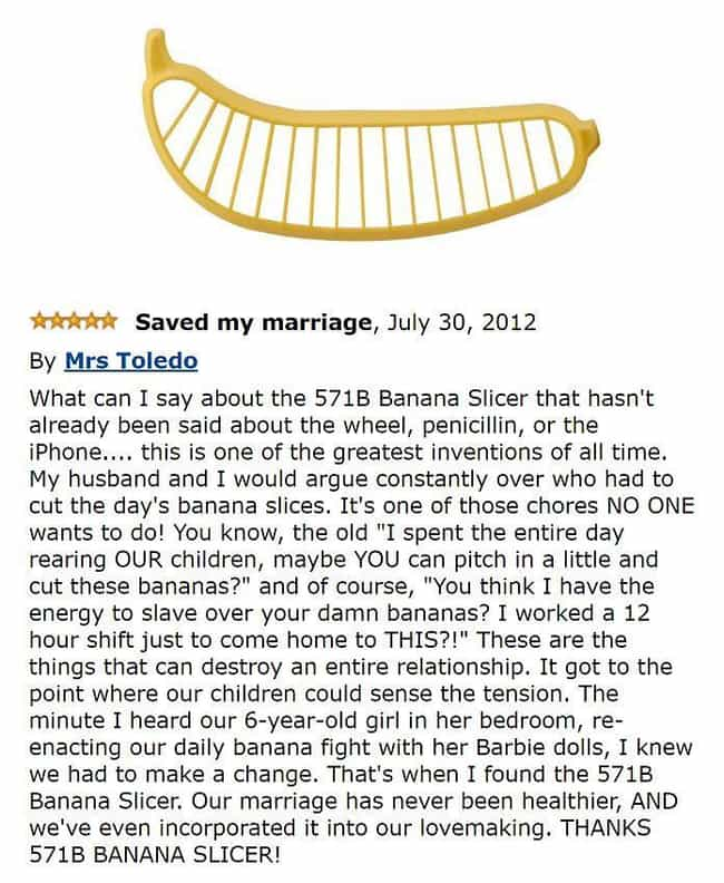 Going Bananas is listed (or ranked) 1 on the list The Most Hilarious Amazon Reviews Ever Written