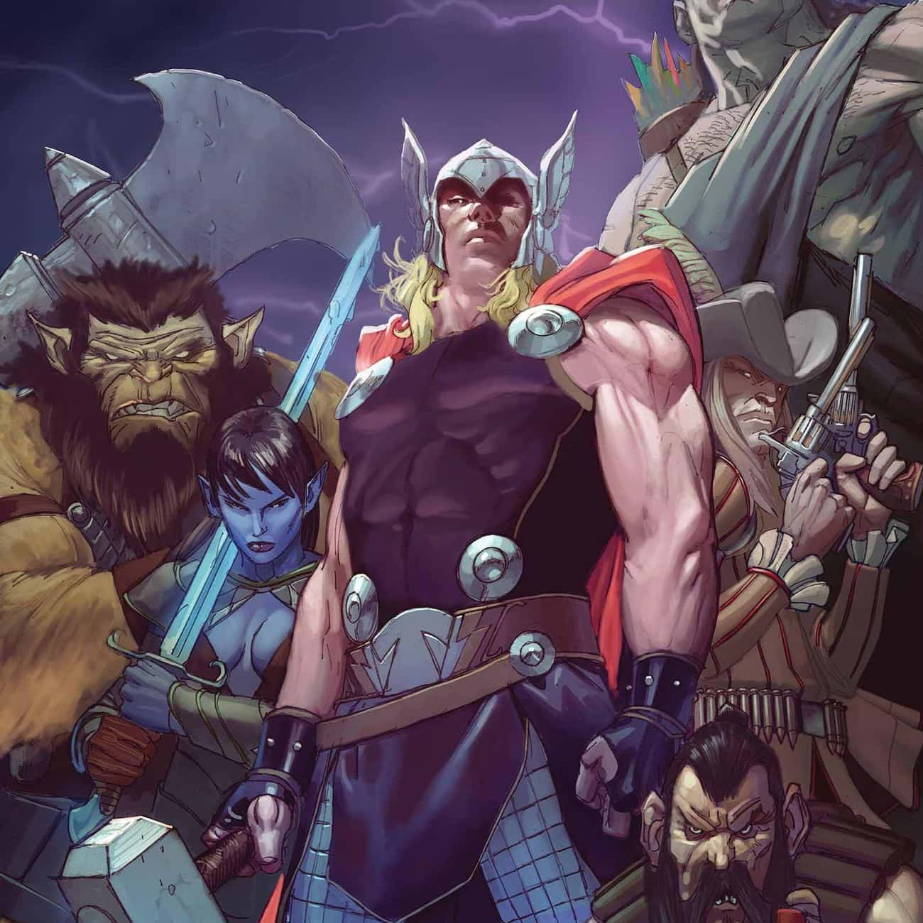 He Formed The League Of Realms is listed (or ranked) 4 on the list Why Thor's Comic Book Life Has Become Unrecognizable Over the Past Five Years