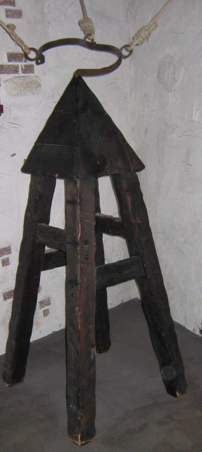 The Judas Cradle Would Literal... is listed (or ranked) 1 on the list 10 Horrifyingly Cruel Torture Methods Used During The Spanish Inquisition