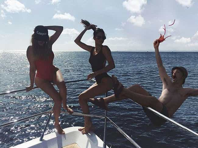 This Photo of Kendall Knocking... is listed (or ranked) 3 on the list This Guy Photoshopped Himself Into a Bunch of Kendall Jenner's Instagram Photos