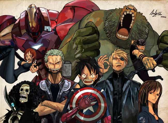 Straw Hats, Assemble! is listed (or ranked) 4 on the list 14 Incredible One Piece Mashups And Fan Art