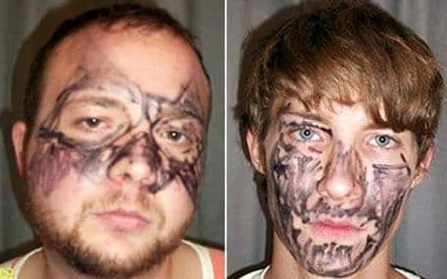 These Guys Covered Their... is listed (or ranked) 1 on the list The 9 Dumbest Disguises Criminals Have Actually Used