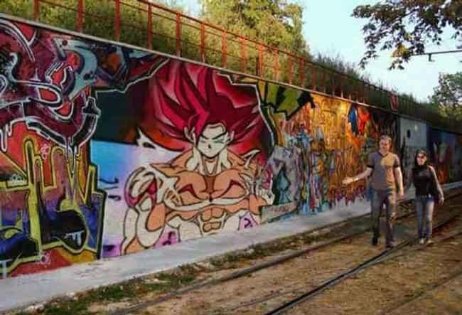 Amazing Examples Of Anime Graffiti From Around The World - 21 amazing examples of graffiti