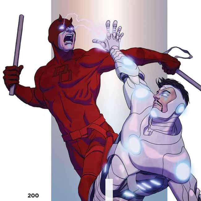 Iron Man Cured Daredevil's... is listed (or ranked) 3 on the list Why Daredevil Has Been Through Hell Over the Past Five Years