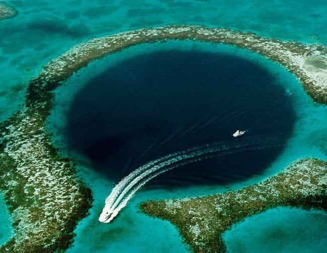 The Great Blue Hole is listed (or ranked) 4 on the list The Worst Images for Bathophobics (Fear of Depth)