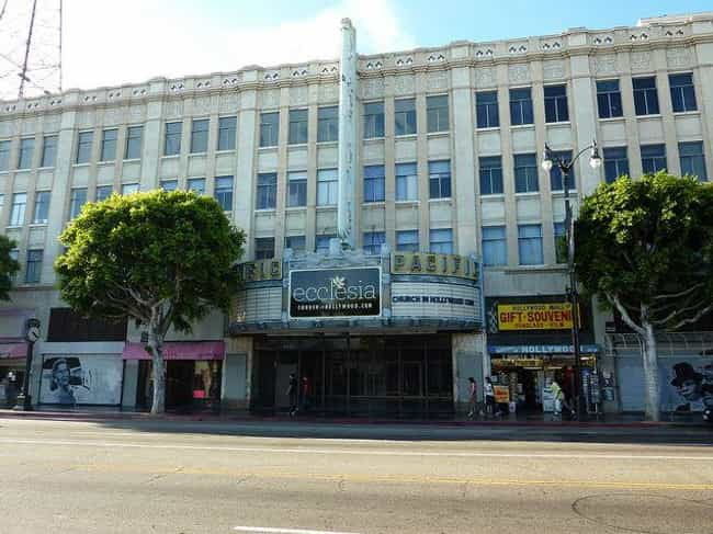 The Hollywood Pacific Theater is listed (or ranked) 4 on the list 14 Terrifying Haunted Theaters Across America