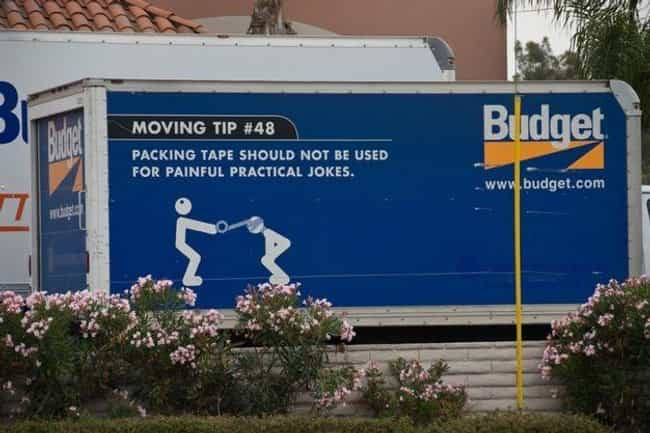 Practical Moving is listed (or ranked) 2 on the list The 28 Funniest Trucker Signs Ever Spotted on the Open Road
