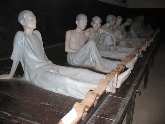 Strapped To Beds By Stocks Or ... is listed (or ranked) 3 on the list 12 Inhumanely Savage Torture Methods Used In The Hoa Loa Vietnamese War Prison