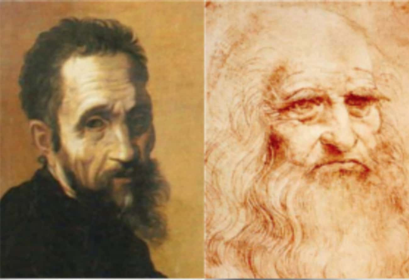 Michelangelo And Leonardo da V is listed (or ranked) 2 on the list 10 Pairs of Historical Figures You Had No Idea Hated Each Other