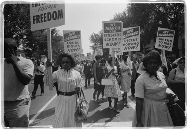 Marching for Integrated School... is listed (or ranked) 4 on the list 20 Sobering Photos of Segregation at Work in 20th Century America